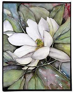 White Magnolia Watercolor Painting on Canvas, Flower Wall Art Prints, Ready to Hang Watercolor Sunflower, Watercolor Plants, Watercolor Paintings, Watercolor Ideas, Watercolour Tutorials, Abstract Watercolor, Original Paintings, Flower Artwork, Art Flowers