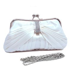 Kissime Pleated. White. Clutch. On Sale $25.60