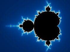 Mandelbrot set - Fractals have infinite symmetry and exist in a non integer based dimension. Perhaps it is an example of the philosophical idea that there is order in chaos?