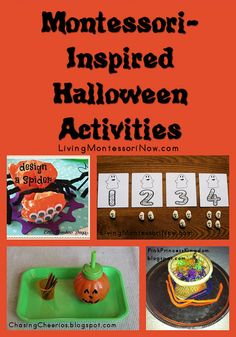halloween activities It's just about two weeks before Halloween! That's when I always used to put out Montessori-inspired Halloween activities as a Montessori teacher and homescho Halloween Theme Preschool, Theme Halloween, Halloween Activities For Kids, Fall Preschool, Holiday Activities, Montessori Activities, Preschool Activities, Montessori Education, Autumn Theme