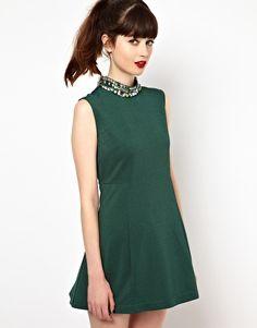 Enlarge Sister Jane Swing Dress with Embellished Neck