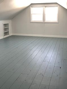 If you want to paint a wood floor, click over to find the paint for wood floors we used and loved! If you want to paint a wood floor, this post will show you some different color options and the paint for wood floors we used and loved! Painted Paneling Walls, Painted Hardwood Floors, Painted Floorboards, Old Wood Floors, Porch Flooring, Farmhouse Flooring, Vinyl Plank Flooring, Diy Flooring, Wooden Flooring