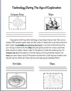 This worksheet talks about the technological advancements that shaped the European explorations. Great for teaching social studies. 7th Grade Social Studies, Social Studies Worksheets, Social Studies Classroom, Teaching Social Studies, World History Classroom, History Teachers, Explorers Unit, Science Curriculum, Curriculum Planning