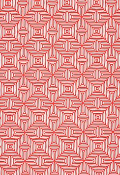 Amazing Maze in Coral by Trina Turk for Schumacher Fabrics