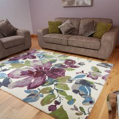 Elegance bellflower rug in purple buy online from the rug seller uk