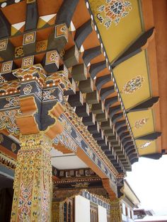 A typical Bhutanese roof design