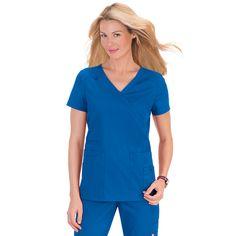 Orange Standard Del Mar Scrub Top in Royal Blue. £19.99   #medicalscrubs #nursescrubs #dentistscrubs #nurses #dentists #bluescrubs #nurseuniform