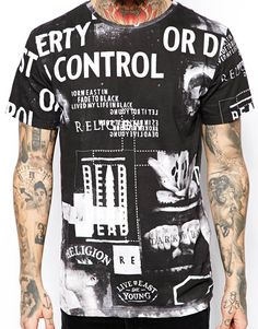 Religion T-Shirt with Lost Control All Over Print