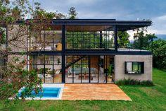 Villa Design, Bg Design, Steel Frame House, Steel House, Industrial Home Design, Industrial House, Dream Home Design, Modern House Design, Modern House Exteriors