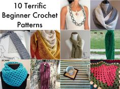 These beginner crochet patterns use simple stitches. They don't require joining, crocheting in the round or any advanced techniques.