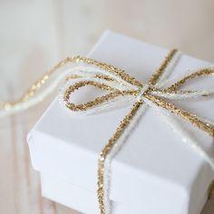 Blanc Irisé Glitter cordes de 10 mètres par AnastasiaMarieShop