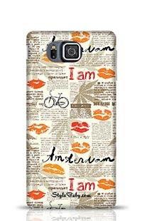 Imitation Of Newspaper Amsterdam Samsung Galaxy Alpha G850 Phone Case