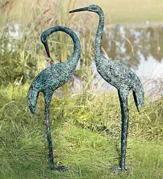 Garden Cranes, set of 2 Best-Selling Garden Art from Wind & Weather on Catalog Spree, my personal digital mall.