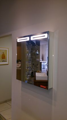 Single Door Wide Sidler Led Mirrored Cabinet To See The