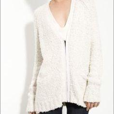Rag & bone Textured V Neck Nubby Zip Cardigan XS Comfy zip up sweater excellent condition rag & bone Sweaters Cardigans