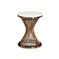 ПОМОЩНА МАСИЧКА Ф45 / РОЗОВО ЗЛАТО AUXILIARY TABLE Ф45 / ROSE GOLD Модерна помощна масичка за кафе, списания, дистанционни и др. Вдъхновена от дизайна в края на 19 век, с малкия си размер тя е перфектна като акцент покрай дивана, спалнята, фотьойла, до масата в хола или в някой празен ъгъл на стаята. Отличава се с класическа кръгла основа, вдъхновена от класическото изкуство, с елегантни детайли от  преплетени тръби, които създават динамична цялостна текстура. Този елегантен детайле направен…