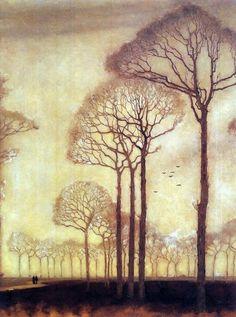Bomenrij  (row of trees) 1915 by Jan Mankes