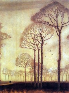 Bomenrij  (row of trees) 1915 by Jan Mankes