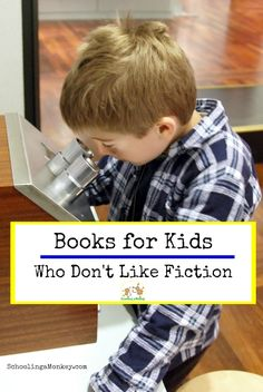 If your kids are not big fans of fiction, like my daughter Monkey, then you will appreciate this list of books for kids who don't like fiction! Books For Boys, Childrens Books, Kids Series, Writing Classes, Phonics Reading, Chapter Books, Reading Material, Learn To Read, Book Activities