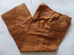 OUE PER OUE Women's Pants Size-12 Zipper Brown Very Good! #OUEPEROUE #CasualPants