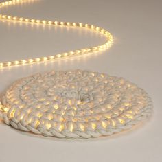 DIY Rope Rug Night Light | 41 Coolest Night Lights To Buy Or DIY