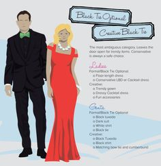 A complete guide to what every single dress code really means decoding dress code black tie optional creative junglespirit Gallery