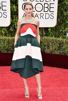All the Best Looks From the Golden Globes Red Carpet via @WhoWhatWearAU