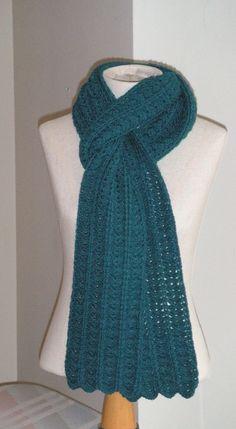 Shell And Bar Scarf By Karen Klemp - Free Crochet Pattern - (ravelry)
