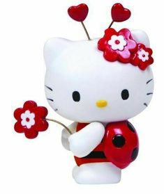 Precious Moments Sanrio Hello Kitty Dressed as a Ladybug Porcelaine Figurine New Hello Kiti, First Birthday Party Themes, 2nd Birthday, Hello Kitty Dress, Precious Moments Figurines, Hello Kitty Birthday, Hello Kitty Collection, Kawaii, Sanrio Hello Kitty