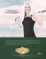 Rolex Lady-Datejust Watch, Carin Koch 2005 Ad Picture