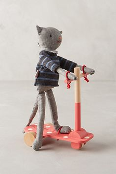 Jaunty Scooter Cat  #anthropologie