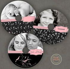 CD DVD label set of three labels wedding engagement by PixelPolish, $10.00