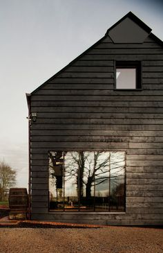 Vertical windows | Anchor & Bolts #architecture #black #glass