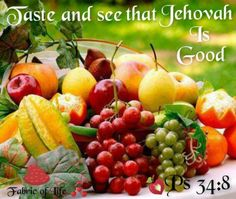 "To gain Jehovah's support we need to ""Taste & see that Jehovah is good."" (Ps 34:8) If we serve Jah & conform to do his will then he will be very good to us, guide us & care for us spiritually. He will sustain us through trials by means of his Word, his holy spirit & the congregation & reward us with everlasting life. For more info please visit jw.org."