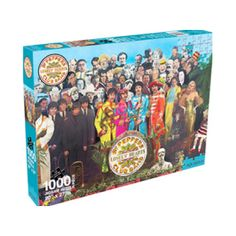 The Beatles SGT Peppers 1000pc Puzzle - Recreate the puzzle of Sir Peter Blake's famous album collage with this colorful, challenging The Beatles puzzle. The Beatles SGT Pepper's 1000pc Puzzle is ready… are you?