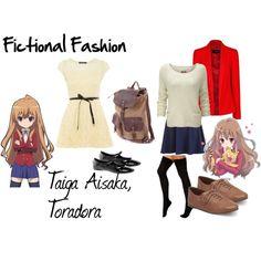 """Taiga Aisaka, Toradora"" by fictional-fashion on Polyvore"