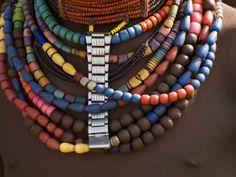 Close-Up of Bead Necklaces of a Hamer Woman, Turmi, Omo Region, Ethiopia, Africa photo by Carlo Morucchio