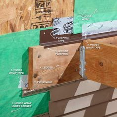 Best Way to Flash a Ledger Board - 16 Modern Deck Building Tips and Shortcuts: http://www.familyhandyman.com/decks/modern-deck-building-tips-and-shortcuts#3