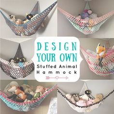 Diy Stuffed Animal Hammock Made Out Of Scrap Fabric Folded Into A