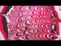 A thousand waves: classic white, red, and black water marble - YouTube