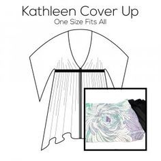 Kathleen Cover Up Pattern with Blue Fabric Kit Blue Fabric, Pattern Paper, Cover Up, Kit, Prints