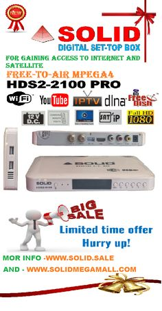 SOLID HDS2-1740 Dolby Digital DVB-S2, Full HD 1080p, MPEG-4 Set-Top