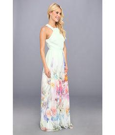 Ted Baker Beula Sugar Sweet Floral Maxi Dress Pale Green - 6pm.com