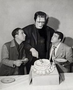 Abbott and Costello celebrate Frankenstein's Birthday