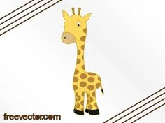 Cartoon Giraffe Image Free Vector Silhouette Clip Art, Animal Silhouette, Free Vector Images, Vector Free, Giraffe Images, Cartoon Giraffe, Game Character Design, Zoo Animals, Animal Design