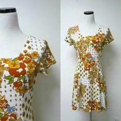 Felix . 80s 90s floral printed dress . medium / bust by june22