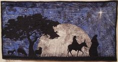 Journey to Bethlehem by Jared Moore.  2016 Springville (Utah) Museum of Art quilt show.  Photo by Quilt Inspiration.