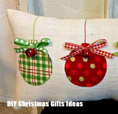Christmas Pillow Burlap Christmas Pillow Fabric Christmas Ornaments Pillow Jingle Bell Christmas Pillow Holiday Xmas gift by sherisewsweet on Etsy Fabric Christmas Ornaments, Burlap Christmas, Farmhouse Christmas Decor, Christmas Bells, Christmas Trees, Diy Christmas Pillows, Farmhouse Decor, Burlap Ornaments, Christmas Sewing Gifts