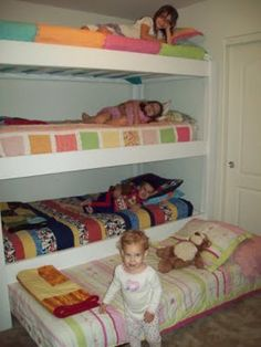 Plain triplet bunk bed - needs a high ceiling I think