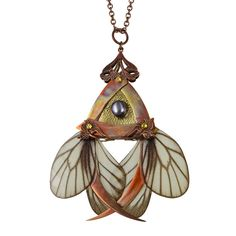 KEIKI / Copper Butterfly Necklace with Secret Blades by HaremRoyal